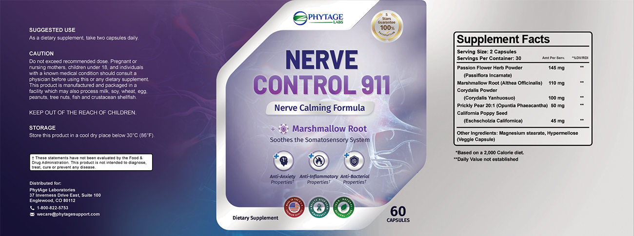 Nerve Control 911 Ingredients