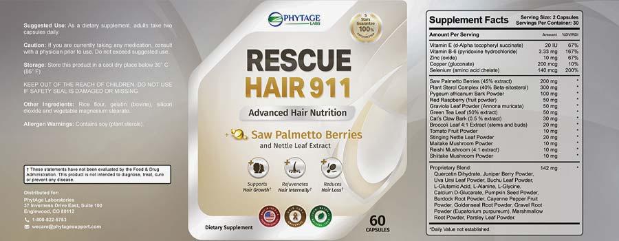 Rescue Hair 911 Ingredients