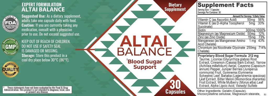 Altai Balance Ingredient